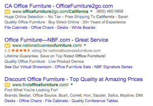 Office Furniture PPC post